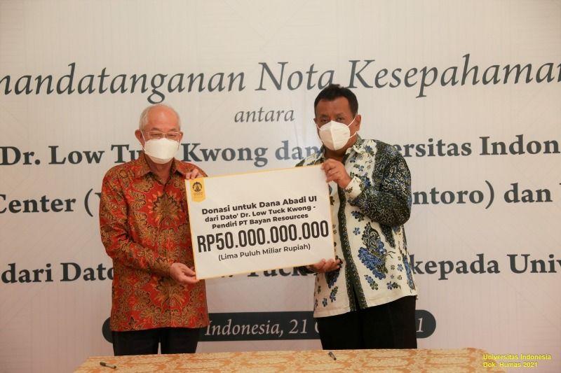 UI Terima Donasi Beasiswa Rp50 miliar dari Dato' Dr. Low Tuck Kwong