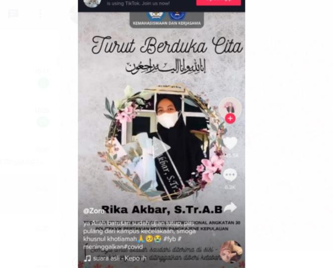 Kisah Haru Mahasiswi Cantik Meninggal Usai Sidang Skripsi